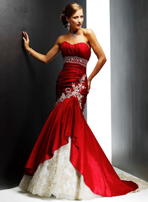 red wedding dresses11