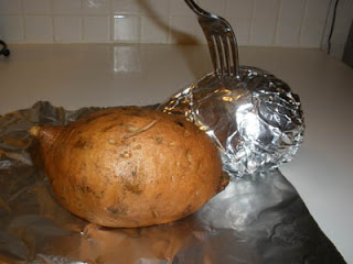 prepare sweet potatoes
