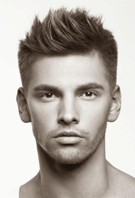 Corte de cabello parado hombre
