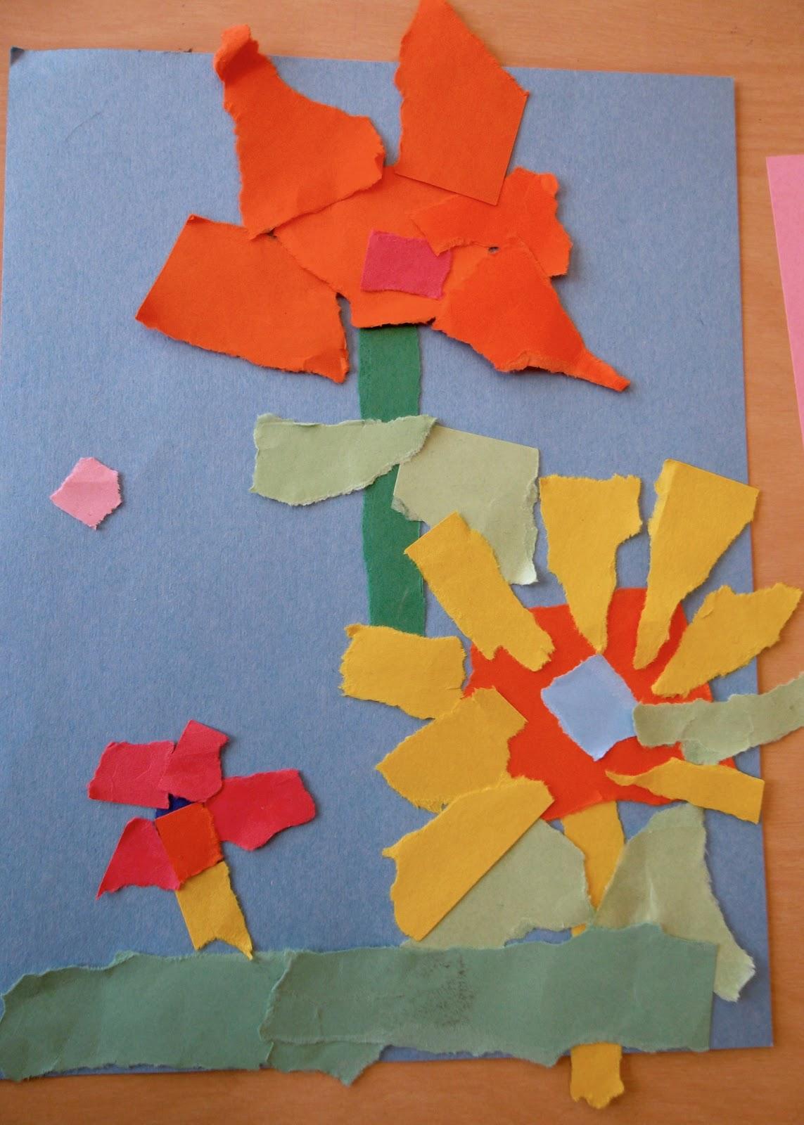 Bitz N Bytz Torn Paper Flower Collage