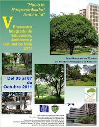 V Encuentro de Ambiente, Educación y Calidad de Vida,2011