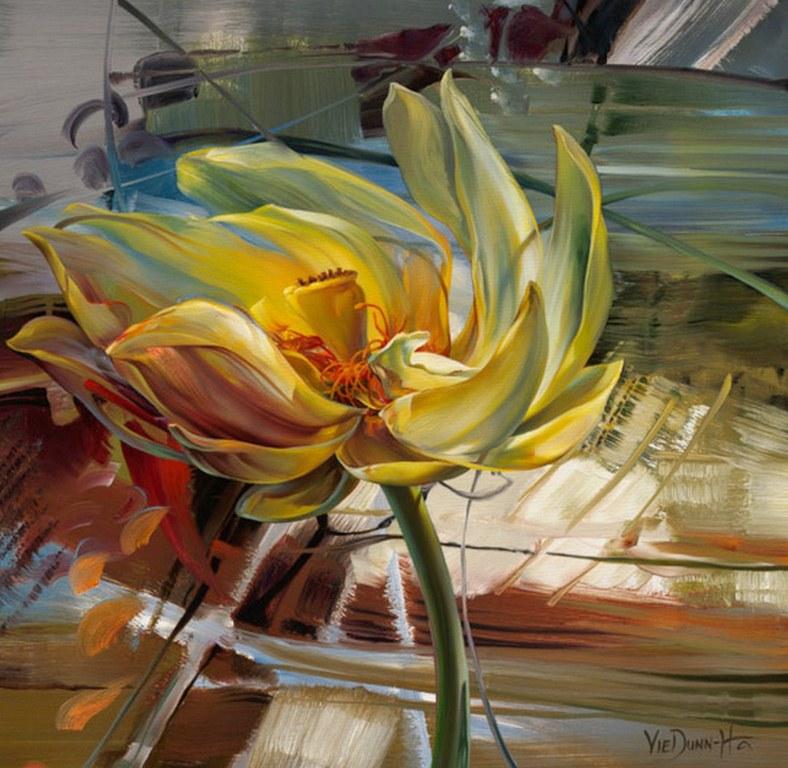 Cuadros pinturas oleos pintura abstracto con flores - Cuadros espectaculares modernos ...