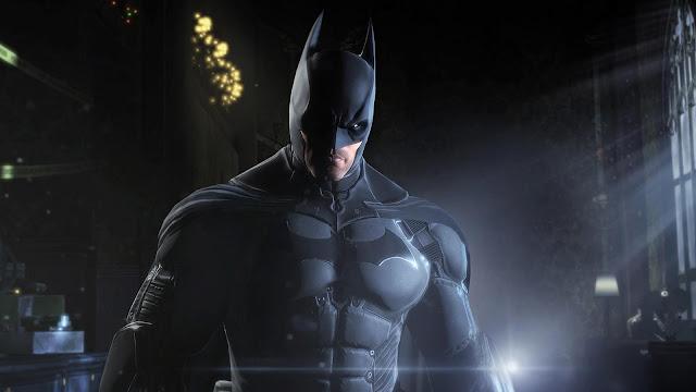 Screenshot of Batman in video game Arkham Origins