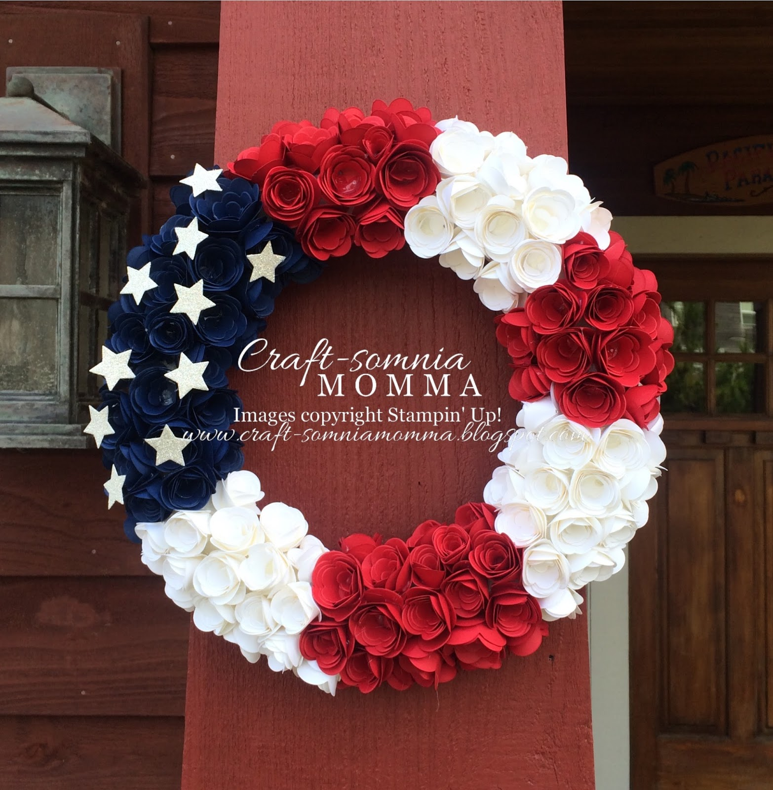 Craft somnia momma 4th of july wreath of roses tuesday june 23 2015 mightylinksfo