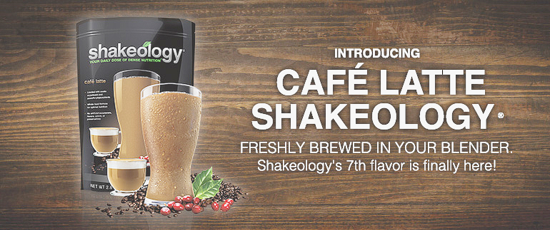new cafe latte coffee shakeology