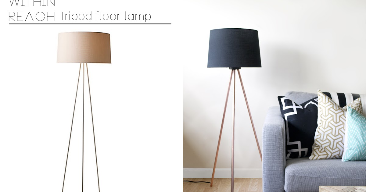 sarah m dorsey designs knocktoberfest tripod floor lamp. Black Bedroom Furniture Sets. Home Design Ideas
