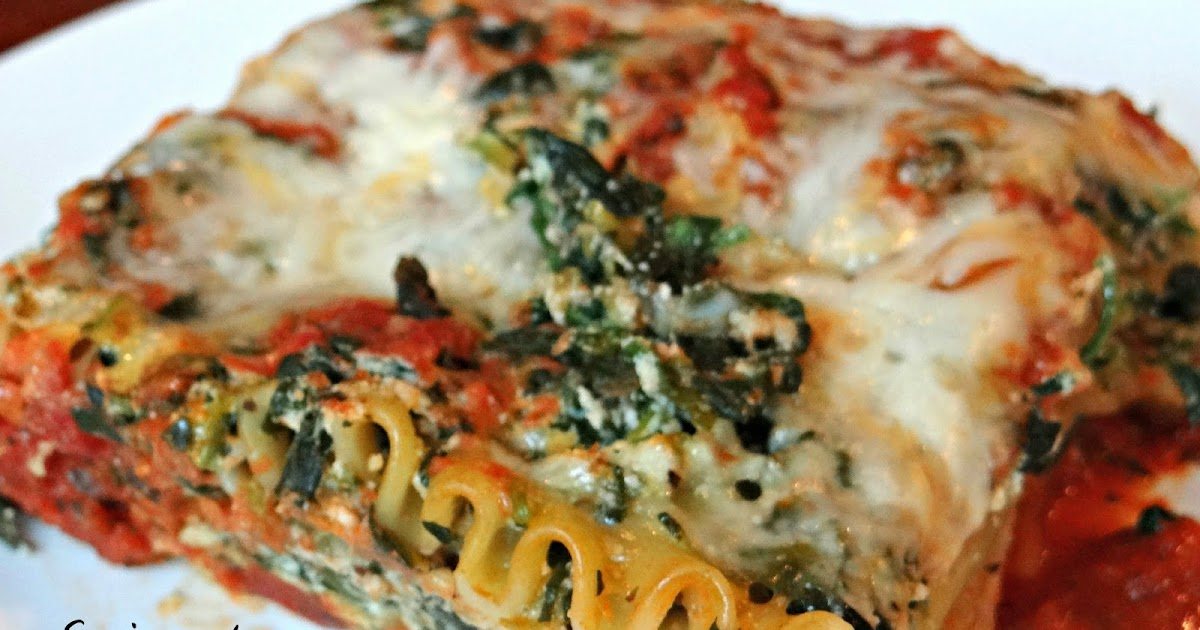 emjay's course: spinach and cheese lasagna