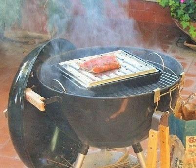 affumicatura a freddo del salmone con bbq