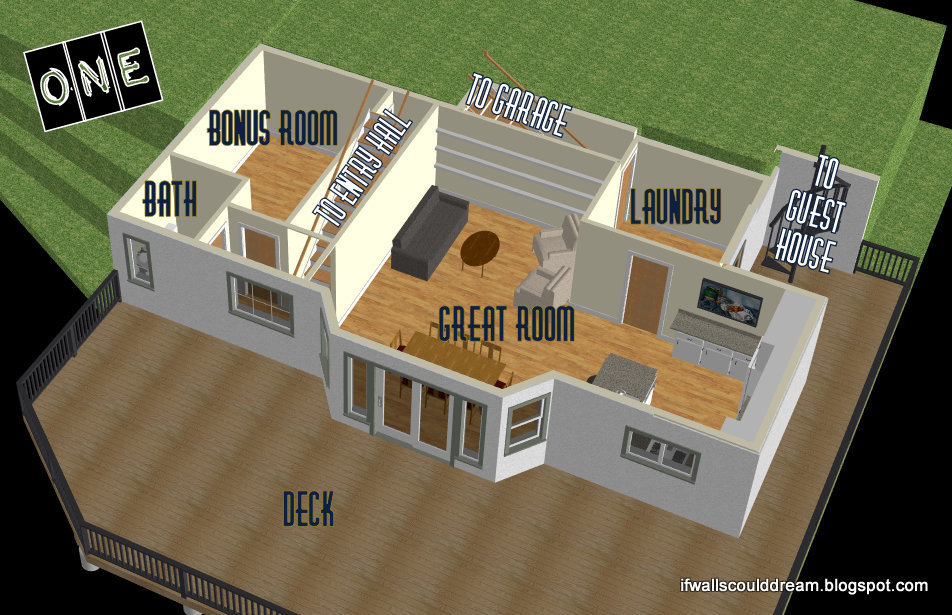 To Your Right Is The Half Bath And Bonus Room (media Room, Guest Bedroom,  Play Room... The Possibilities Are Endless!) Notice The Huge Deck Right Off  The ...