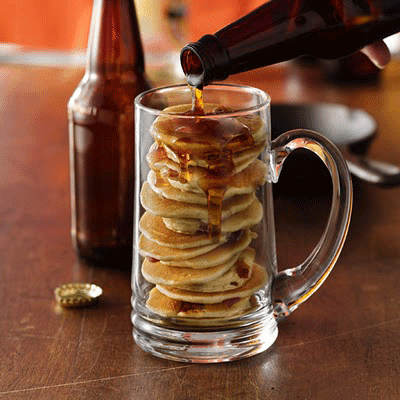 Beer and Bacon Mancakes by Betty Crocker