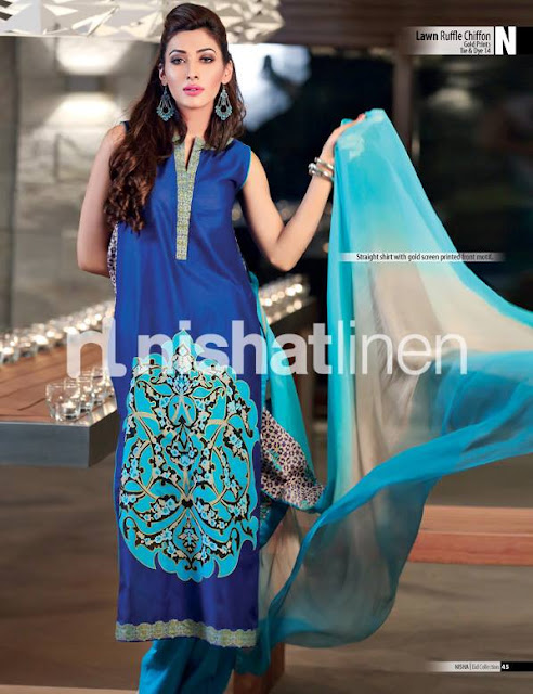 Nisha By Nishat Linen Latest Eid Collection 2013