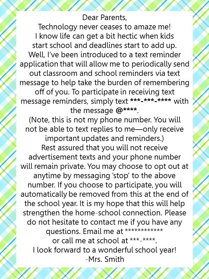 my version of the letter on teacherspayteachers since it is not my original idea but feel free to use my version as well when addressing your parents