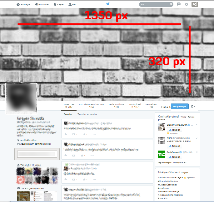 Twitter Yeni Kapak Fotografi Boyutları Twitter New Cover Photo Size 2014