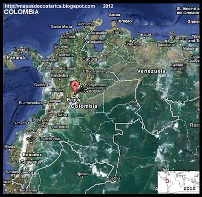 COLOMBIA, Vista Satelital de Google Maps