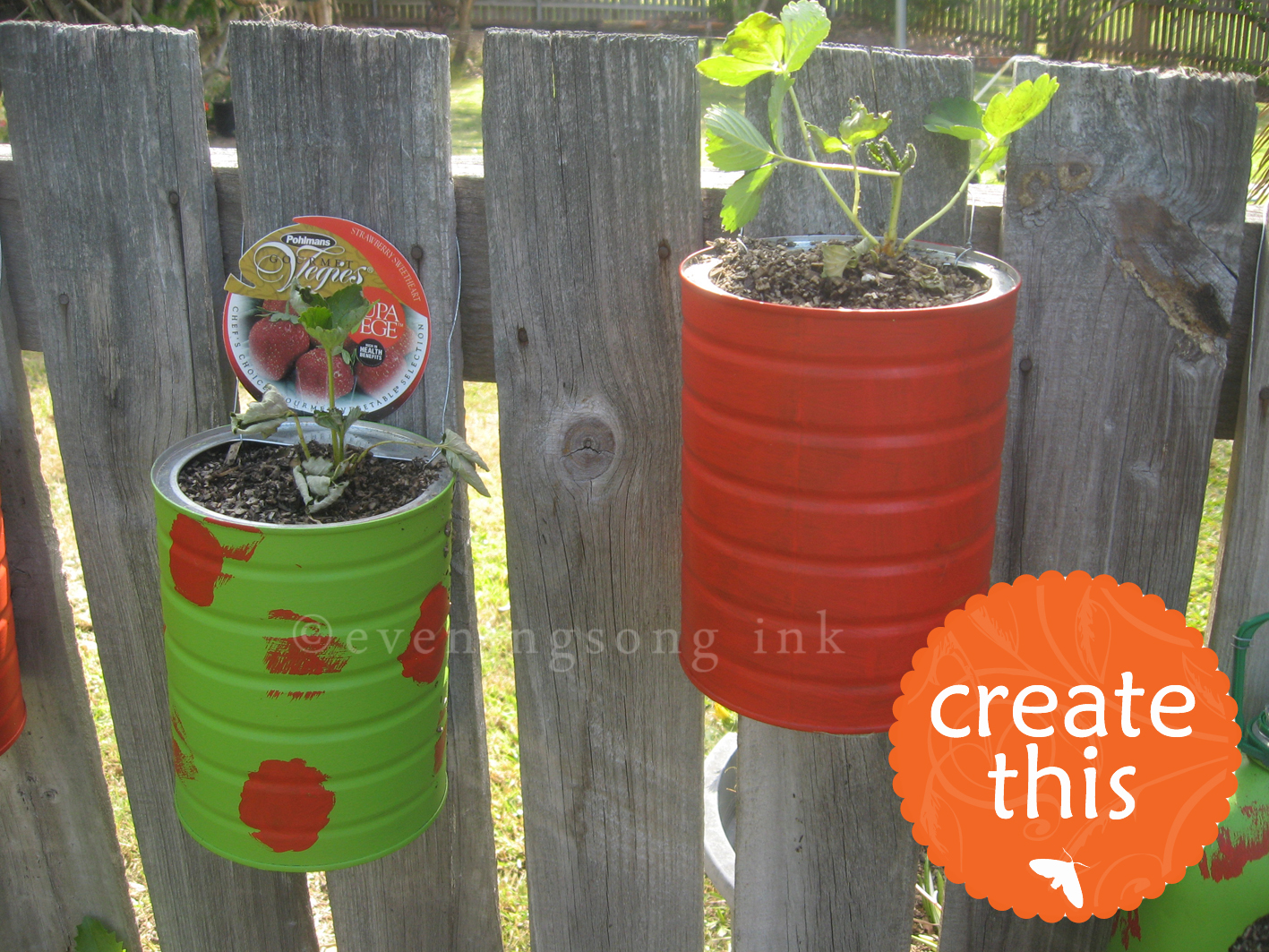 Eveningsong ink recycled plant pots the perfect gift or for Recycled flower pots