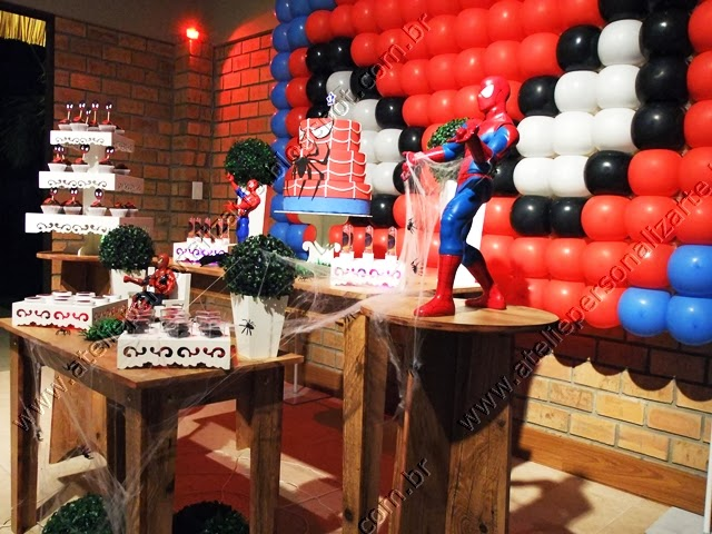 decoração aniversario infantil homem aranha