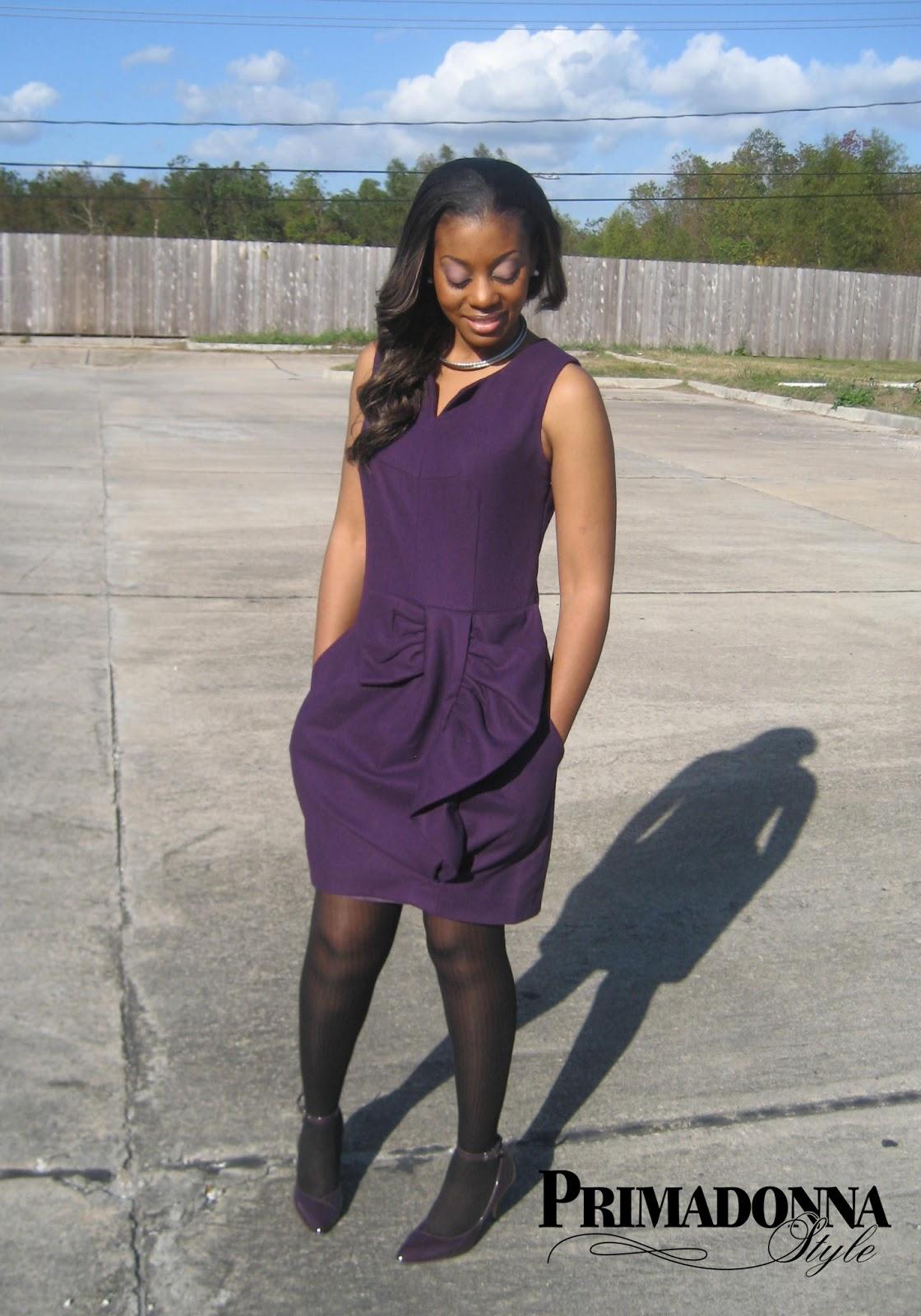 purple dress, Pippa Mimi, RSVP Velma, silver collar necklace, grape dress, violet dress