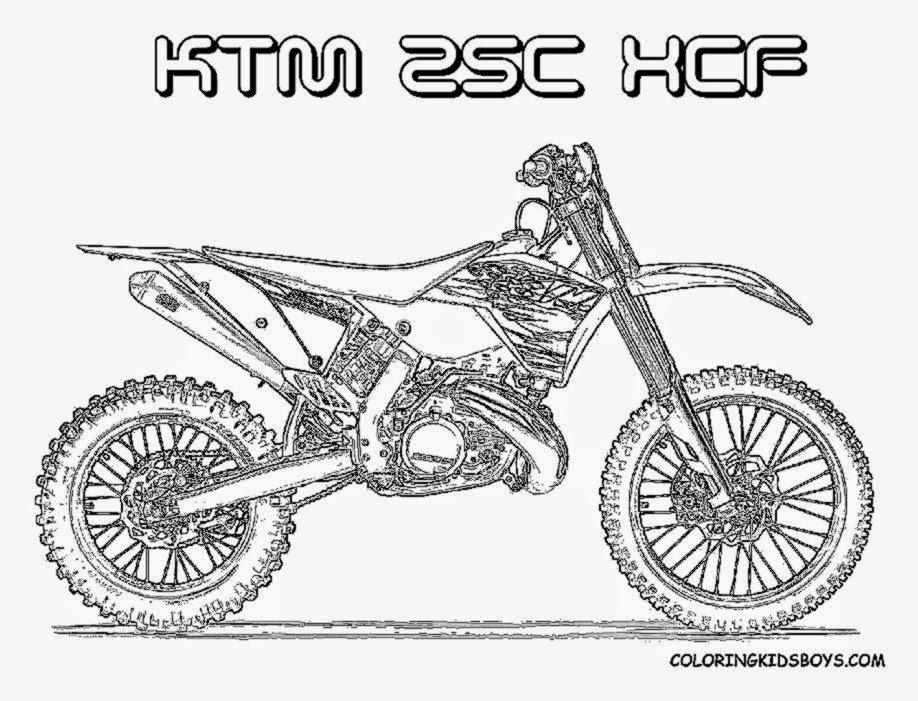 Dirt bike coloring pictures free coloring pictures for Coloring pages of bikes