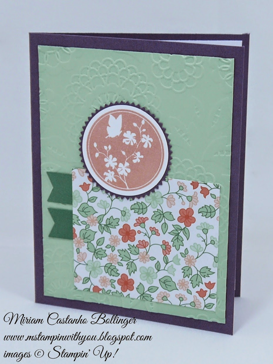 Miriam Castanho Bollinger, mstampinwithyou, stampin up, demosntrator, sssc 241, gold soiree specialty dsp, serene silhouettes, big shot, lovely lace tief, starburst framelits, banner punch, su