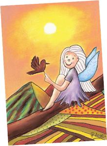Pilar Argés ilustra mi cuento El pájaro y la estrella