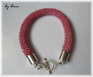 węże koralikowe bransoletka róż