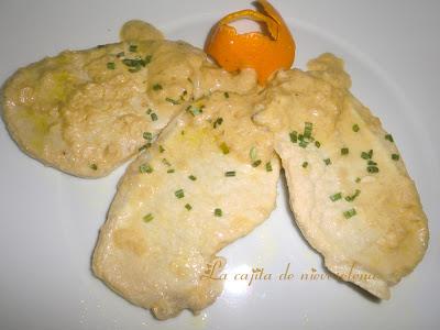 Lomo De Cerdo Con Crema De Naranja