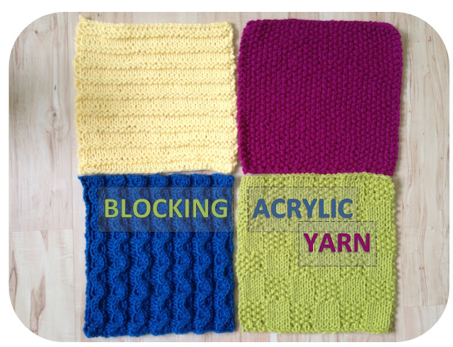 Acrylic Yarn : Tutorial: Blocking Acrylic Yarn A Modicum of Ingenuity