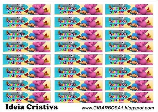 rótulo para mini garrafinhas Pocoyo para imprimir grátis
