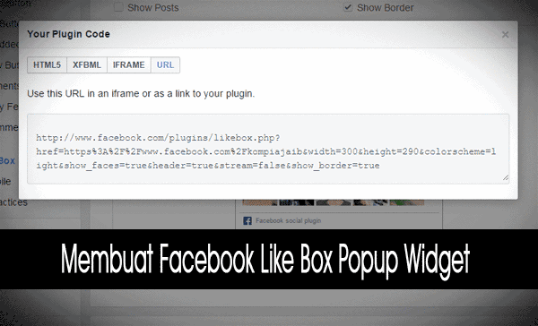 Facebook Like Box Popup Widget