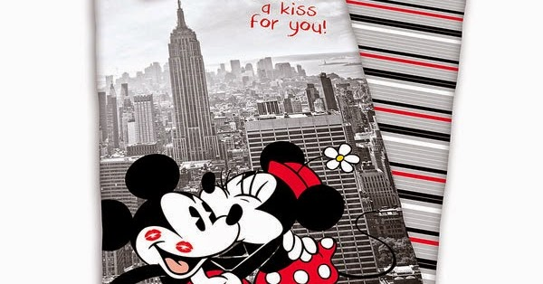 Funda Nordica Mickey Y Minnie Beso.Funda Nordica Minnie Y Mickey En Nueva York El Regalo Original