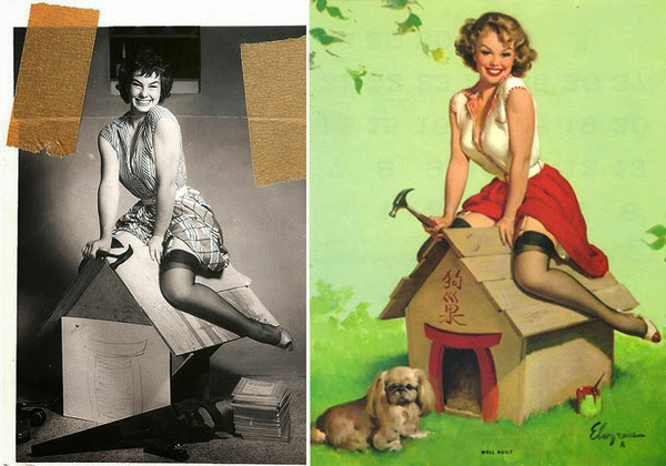 pin up paintings, real women behind pin up paintings-6