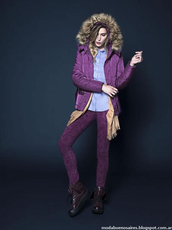 Moda invierno 2014 Kevingston Mujer camperas con capuchas de piel