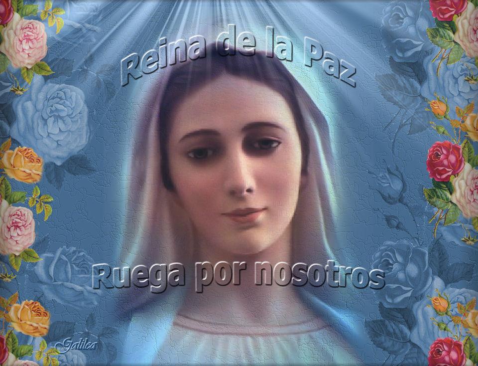 Resultado de imagen de oracion a la reina de la paz