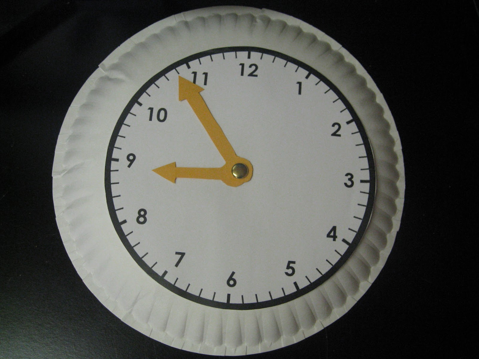 ... clock I created using a free clock face printable from freeology.com