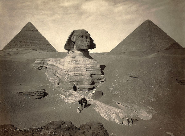Sphinx is much older than the Pyramids!  Sphinx_oldPhoto