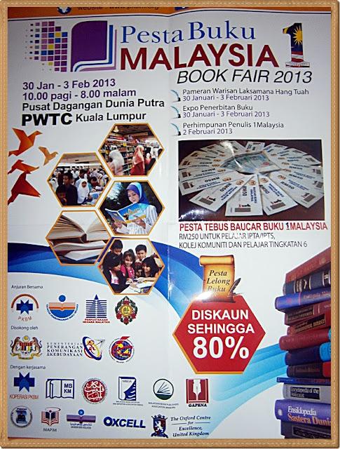 POSTER PESTA BUKU 1 MALAYSIA 2013, JADUAL PESTA BUKU 1 MALAYSIA 2013, DISKAUN BUKU PESTA BUKU 1 MALAYSIA 2013