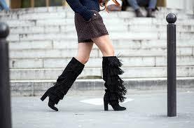 bota franjas moda