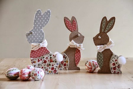 Idées pour le Recyclage du Bois pour Pâques, Lapins