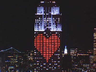 Symbol On Empire State Building Valentine S Day