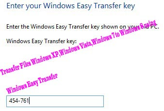 Transfer Files Windows XP,Windows Vista,Windows 7 to Windows 8 using   Windows Easy Transfer