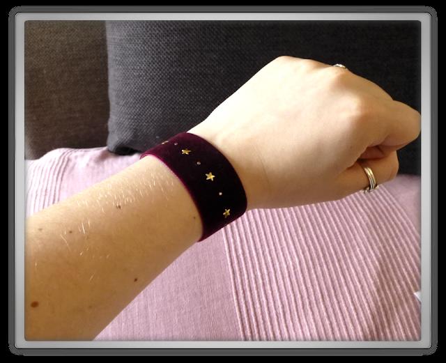 Velours armband plum etsy shop Imladris Creative Studios