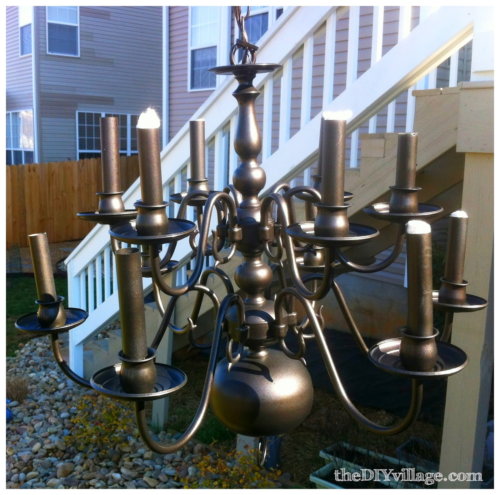 Up cycled chandelier the diy village aloadofball Image collections