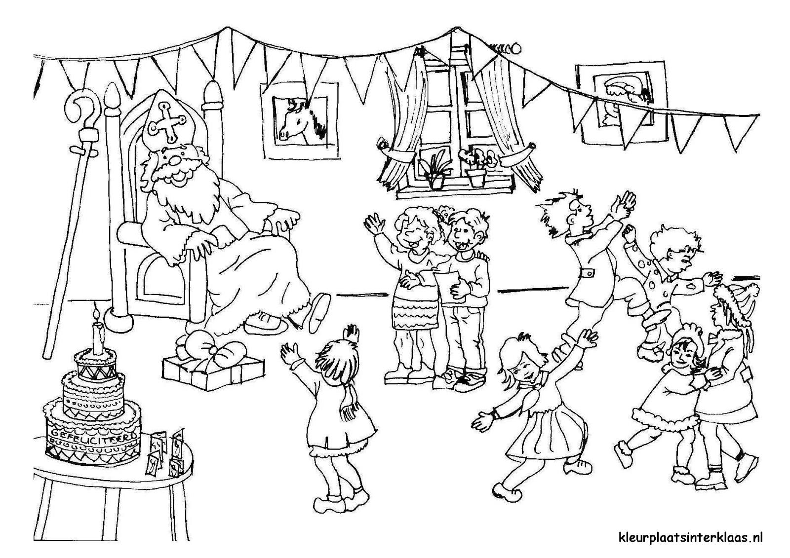 BAÚL DE NAVIDAD: Dibujos navideños de San Nicolás con los niños para ...
