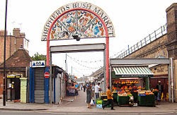 Why band name Bush - Shepherd's_Bush_Market