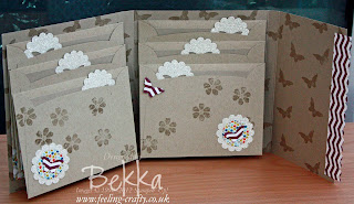 Envelope Waterfall Album by Stampin' Up! Demonstrator Bekka Prideaux - contact her to find out how to make this adorable album