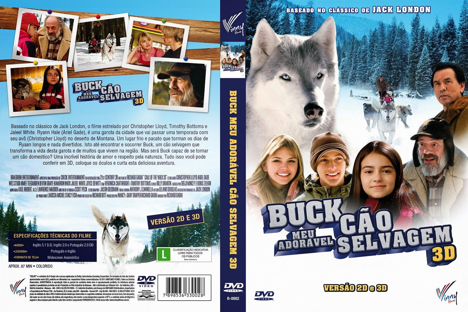 Capa DVD Buck Meu Adorável Cão Selvagem 3D