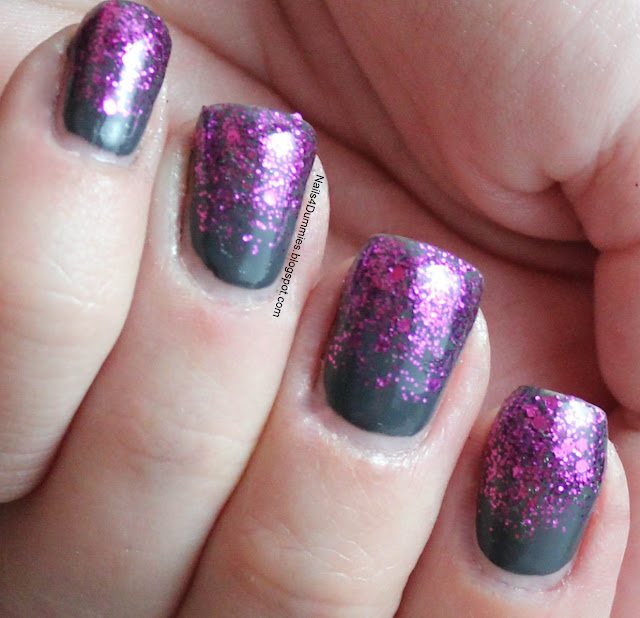 Grey and Magenta Glitter Gradient
