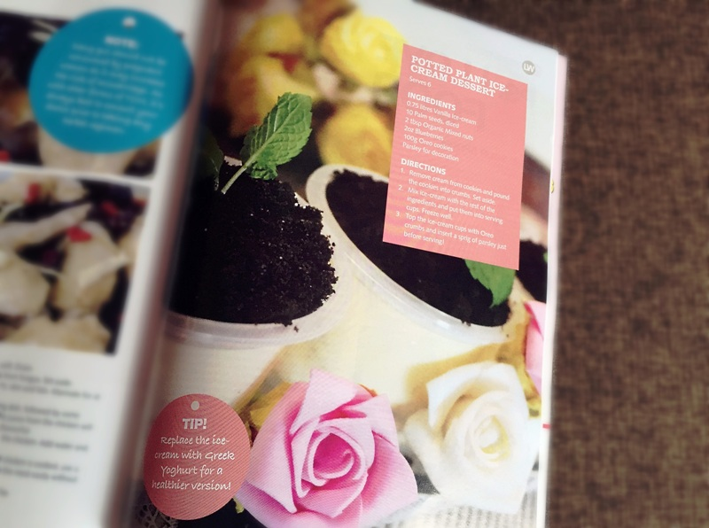 livewell magazine features potted plant ice cream recipe