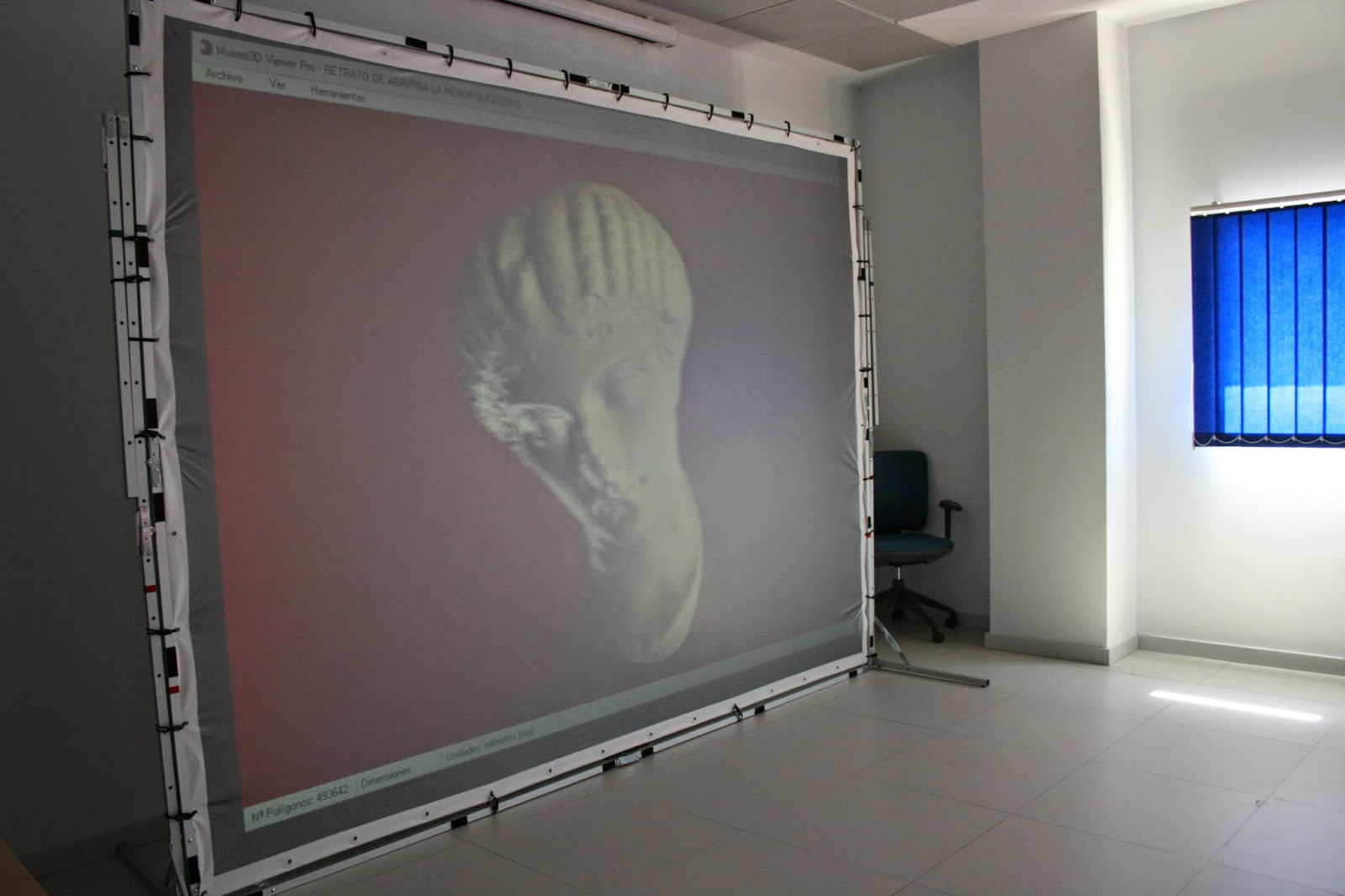 Pantalla Centro Realidad Virtual FAICO
