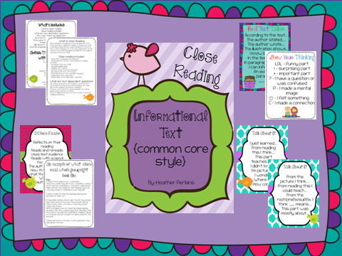 Second Grade Perks: Close Reading With Informational Text